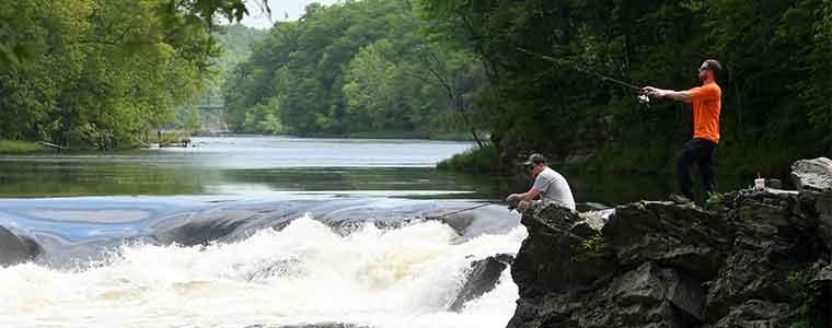 Fishing at Rock Dam